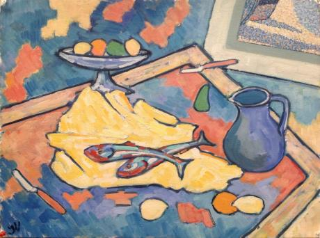 Still life with lemon and fish - Jan Willem Versteeg -  auf  - Array -